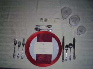 Examples of Place Settings and Serving Pieces